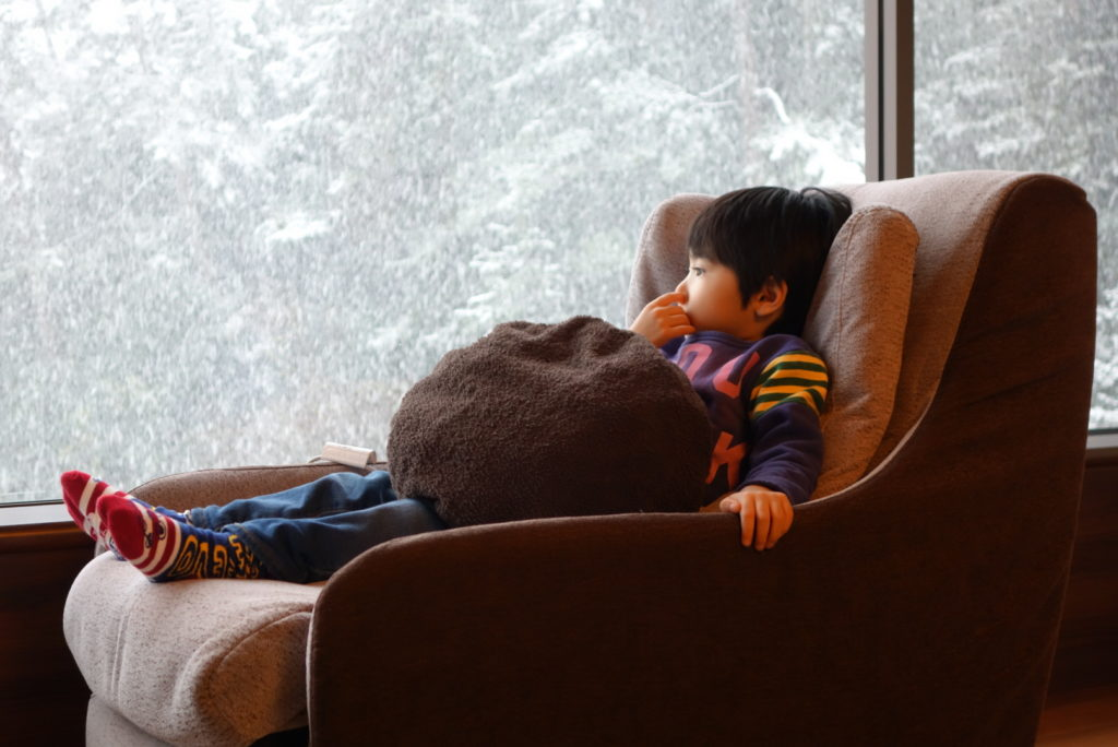 ソニーRX100初代 作例「雪景色と人物」