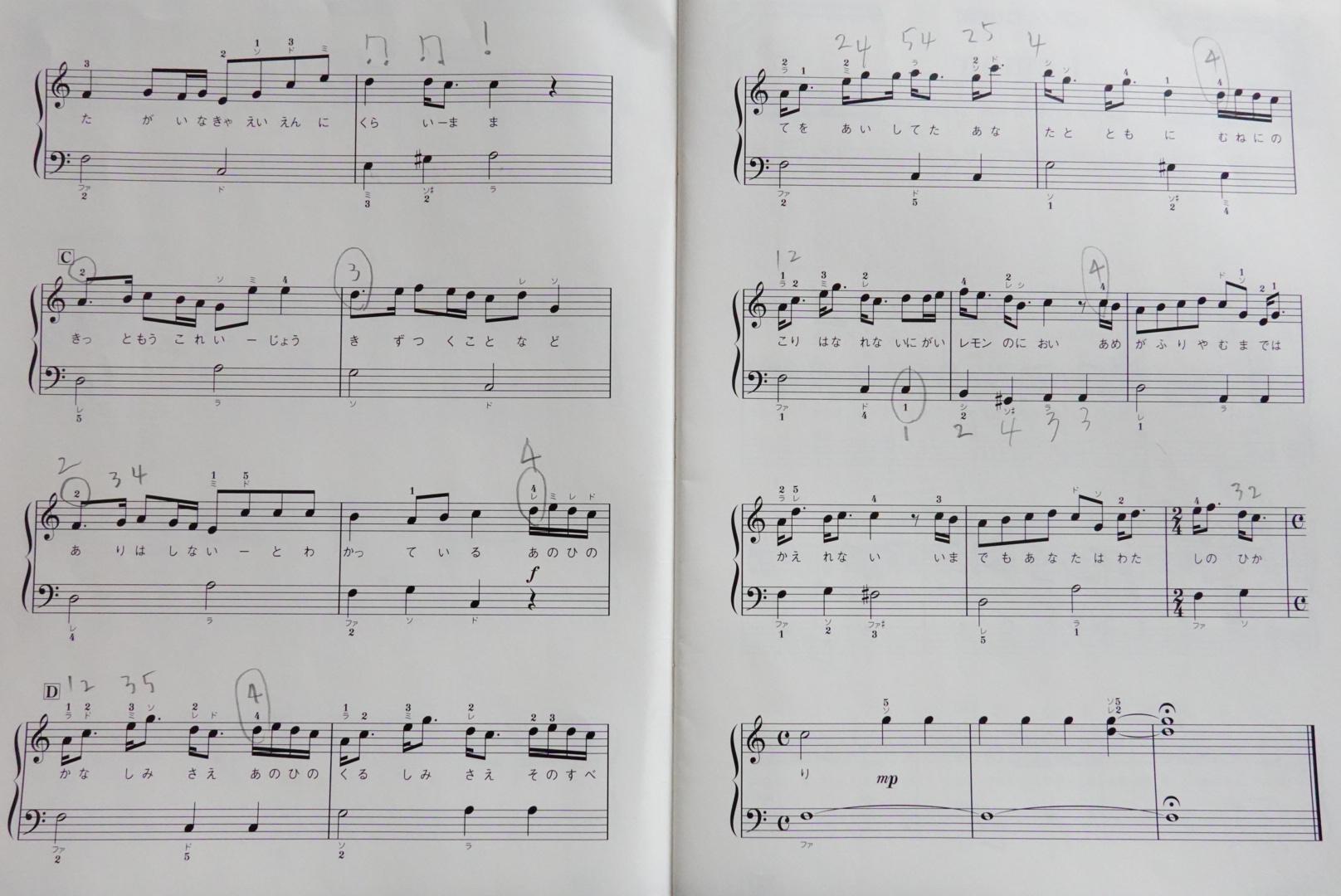 初心者向けピアノ楽譜『remon』