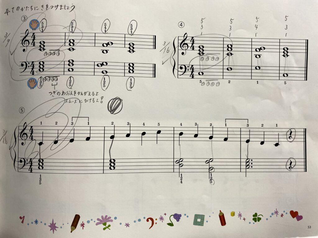 オルガンピアノの本2『ハ長調のスケールと和音』