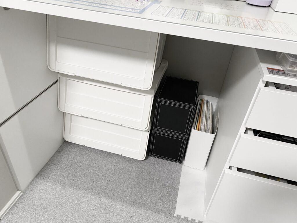 リクシル(ヴィータスパネル)机の下の収納